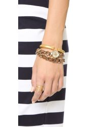 Tory Burch - Metallic Mini Reva Double Wrap Watch - Lyst