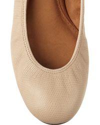 Lanvin Natural Lizardeffect Leather Ballet Flats