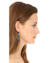 Gemma Redux - Green Long Flora Drop Earrings - Lyst