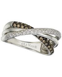 Le Vian Chocolatier® Diamond Twist Band (1/2 Ct. T.w.) In 14k White Gold
