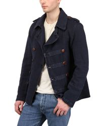 Corto Maltese Blue Old Garment Dyed Casual Jacket for men
