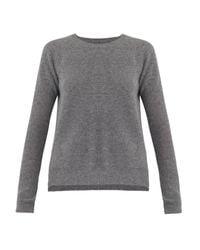 Velvet By Graham & Spencer | Gray Alba Waffle-Knit Cashmere Sweater | Lyst