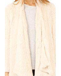 H Brand Natural Ashleigh Rabbit Fur Jacket