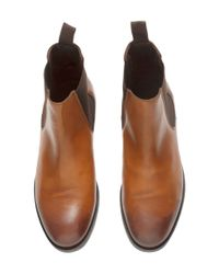 H&M Brown Leather Chelsea Boots for men