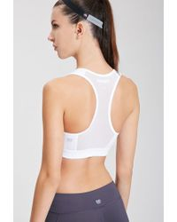 Forever 21 - White High Impact - Mesh-back Sports Bra You've Been Added To The Waitlist - Lyst