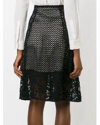 See By Chloé | Black 3/4 Length Skirt | Lyst