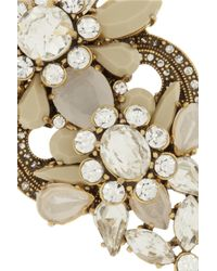 J.Crew Metallic Station Deco Goldtone Crystal Necklace