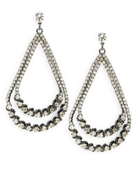 ABS By Allen Schwartz | Gray Rhinestone Teardrop Earrings | Lyst