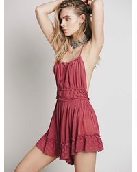 Free People | Pink Endless Summer Womens Ready For Anything Romper | Lyst