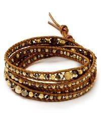 Chan Luu   Metallic Graduated Gold Vermeil Five Wrap Bracelet   Lyst
