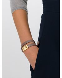 See By Chloé | Gray Double Wrap Bracelet | Lyst