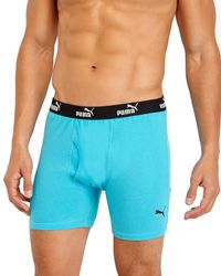 PUMA - Blue 3-Pack Multicolor Boxer Briefs for Men - Lyst