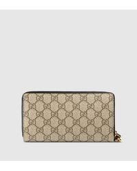 dc96e33b7fb Lyst - Gucci Gg Supreme Wrist Wallet in Natural