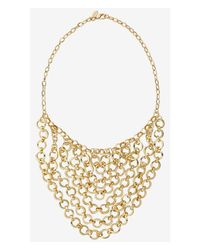 Express | Metallic Circle Link Swag Necklace | Lyst