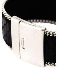 Aech Cheli | Black Small 'zip' Bracelet | Lyst