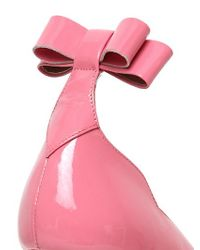 RED Valentino - Pink 70Mm Patent Leather Bow Pumps - Lyst