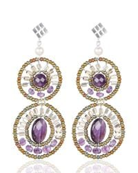 Ziio | Purple Bubble Earrings | Lyst