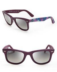 Ray-Ban Purple Camo Fabric Wayfarer Sunglasses