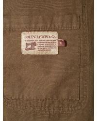 John Lewis Brown Garment Dye Work Wear Jacket for men