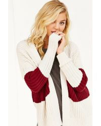 BDG - Natural Mixed Colorblock Cardigan - Lyst