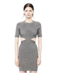 Alexander Wang - Black Cut-Out Jersey Dress - Lyst