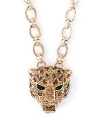 Roberto Cavalli | Metallic Leopard Pendant Necklace | Lyst
