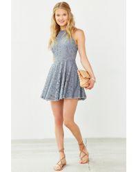 Kimchi Blue | Blue Valentina Empire Lace Mini Dress | Lyst