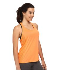 Under Armour | Orange Fly-by Stretch Mesh Tank Top | Lyst