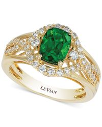 Le Vian | Metallic Chrome Diopside (1-1/3 Ct. T.w.) And Diamond (3/8 Ct. T.w.) Ring In 14k Gold | Lyst