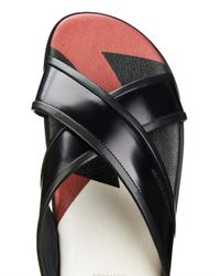 Alexander McQueen | Black Crossover Leather Sandals for Men | Lyst