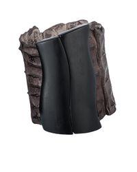 Nada Sawaya | Brown J17 - Crocodile Cuff With Magnetic Closure - Chocolate | Lyst