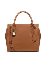 MICHAEL Michael Kors | Brown Mckenna Medium Satchel | Lyst