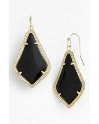 Kendra Scott | Black 'alex' Drop Earrings | Lyst