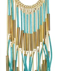 ASOS - Green Fringe Necklace - Lyst