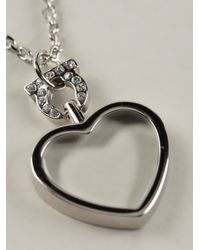 Ferragamo Metallic Heart Pendant Necklace