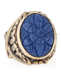 Stephen Dweck | Blue Carved Sodalite Ring Size 7 | Lyst
