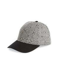 Lucky Brand | Black 'zig Zag' Straw Baseball Cap | Lyst