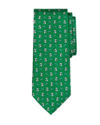 Brooks Brothers | Green Cat And Fish Print Tie for Men | Lyst