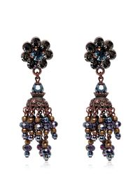 DSquared² | Multicolor Crystal Pendant Earrings | Lyst
