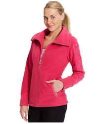 Calvin Klein Pink Performance Fleece Logo Jacket