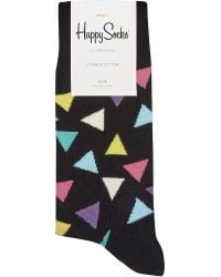 Happy Socks | Multicolor Triangle-patterned Socks for Men | Lyst