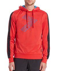 EA7 - Red 7 Logo Hooded Sweatshirt for Men - Lyst
