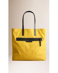 Burberry Yellow Reversible Lightweight Tote Bag for men
