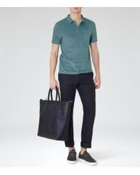 Reiss | Green Montego Terry Towelling Polo Shirt for Men | Lyst