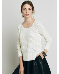 Free People | White Womens Bow Back Pullover | Lyst