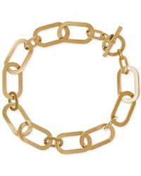 Michael Kors | Metallic Gold-tone Large Link Collar Necklace | Lyst
