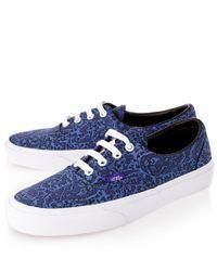 Vans Blue Navy Bay Laurel Liberty Print Era Skate Shoes