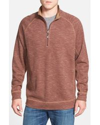 Tommy Bahama | Brown 'slubtropics' Reversible Quarter Zip Pullover for Men | Lyst