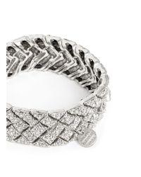 Philippe Audibert | Metallic Swarovski Crystal Elasticated Bracelet | Lyst