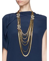 Erickson Beamon | Metallic 'stratosphere' Crystal Chain Drop Earrings | Lyst